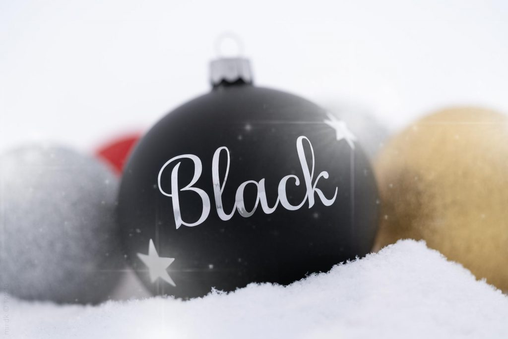 Black julekugle